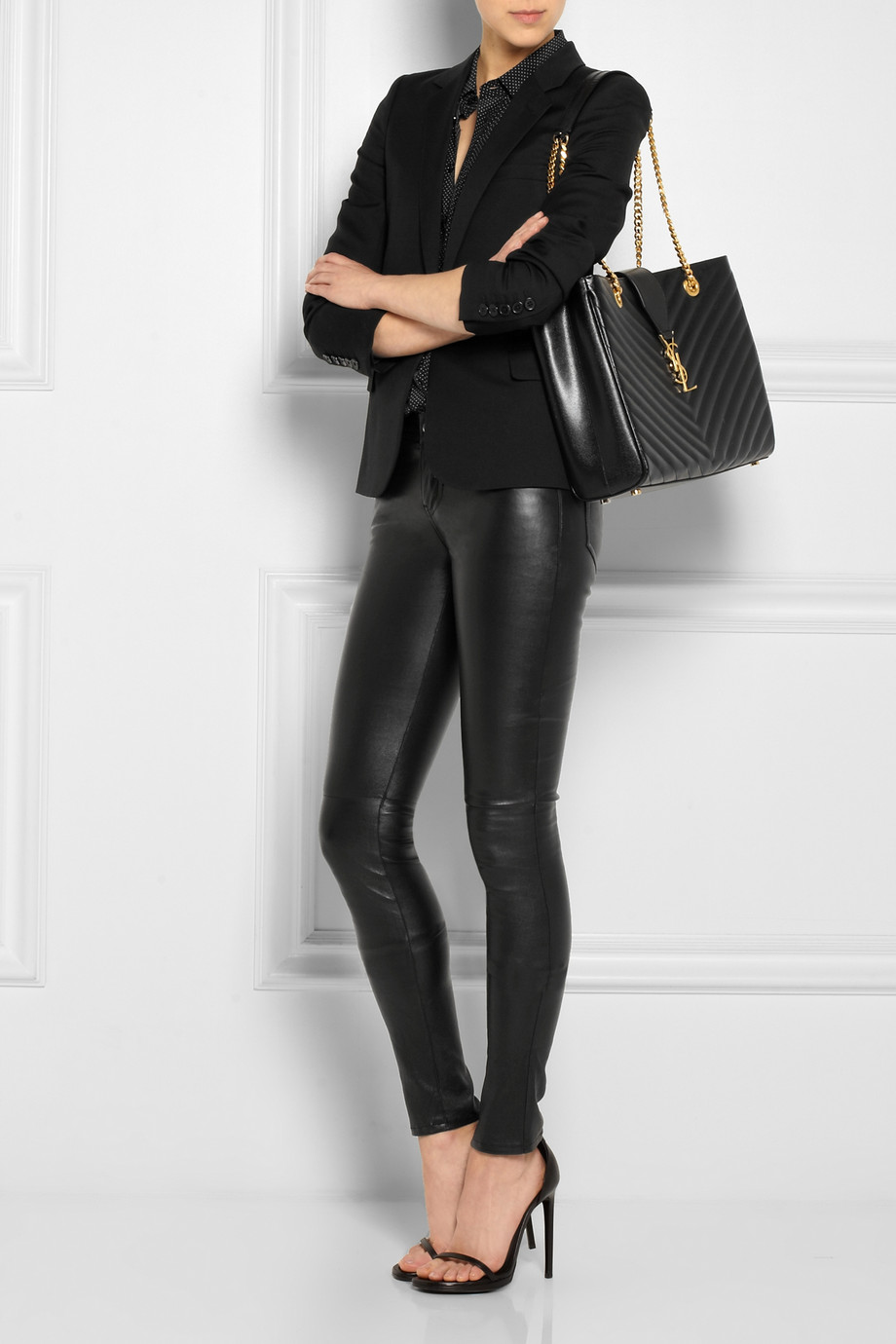 ysl leather bag